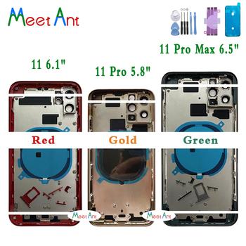 AAA wysokiej jakości tylna pokrywa dla iphone 11 11pro 11 Pro Max obudowa pokrywa tylne drzwi podwozie środkowa rama z tylnym szkłem + narzędzie tanie i dobre opinie Meet Ant CN (pochodzenie) Z aluminium For iphone 11 11pro 11 Pro Max Apple iPhone Black White Red Green Yellow Pueple