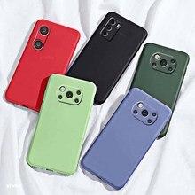 Liquid Case for Xiaomi Poco X3 Pro F3 M3 PRO Silicone TPU Phone Cases for Xiao Mi Pocophone Poko Pocco Poxo M X 3 NFC Back Cover