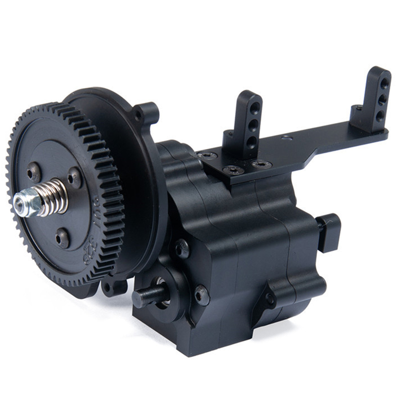 Metal CNC Chassis / Gear Box Transfer Case Center Gearbox Transmission Case 2 Speed For 1/10 Axial SCX10 Wraith 90018 RC Crawler