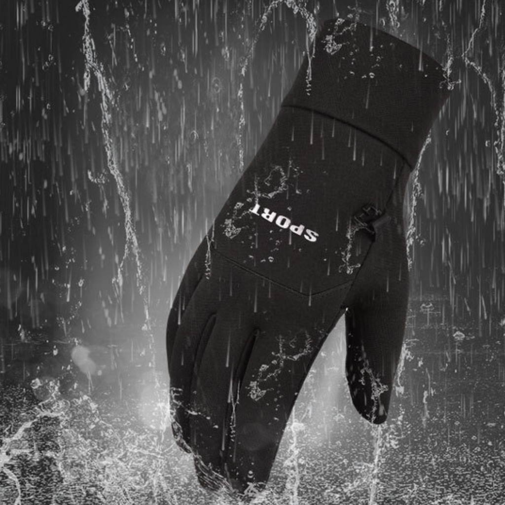 Men Cycling Winter Warm Gloves Waterproof Gloves Winter Skiing Gloves Touchscreen Outdoor