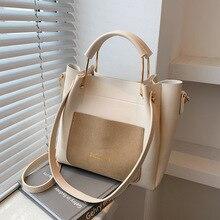High-quality Ladies Large-capacity Shoulder Bag 2021New Female Bag Fashion Hit Shoulder Messenger Bag Casual Portable Bucket Bag
