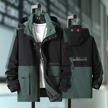 Male Hooded-Jacket Spring 10XL 8XL 9XL Black Outdoor Sport Plus-Size Men Hip-Hop Autumn