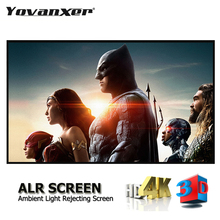 """Ambient Light Rejecting ALR Projector Screen 80"""" 100"""" 120"""" 133"""" 150"""" Anti Light Projection Curtain without the Frame"""