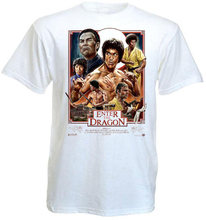 Summer 2019 ENTER OF THE DRAGON Bruce Lee Movie Poster T shirt white all sizessuit hat pink t-shirt(China)