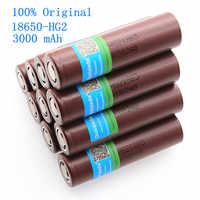 100%-batería recargable original de 2021 mah para LG, pila de litio de 18650 mah, 3000 v, HG2 3,7, 18650 mah, 3000 nuevo