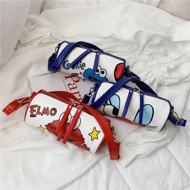 KID'S Messenger Bag BOY'S Bag Girls Baby Satchel Sesame Street Fashion Purse Korean-style Cyrinder Bag