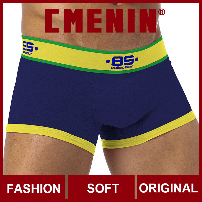 Free Shipping 2020 New Underwear Men Boxers Cotton Mens Boxershorts Underware Boxer Shorts Underpants Gay BS