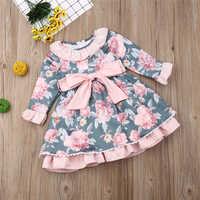 Vestido Floral para recién nacido, ropa para bebé, ropa para niña, vestidos de princesa para fiesta y Navidad, novedad de Otoño de 2019