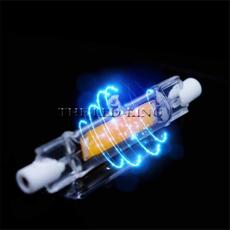 LED R7S lampadina COB a tubo di vetro 78MM 20W 118MM 40W R7S lampada a mais J78 J118 sostituire la luce alogena 50W 90W ca 220V 230V Lampadas