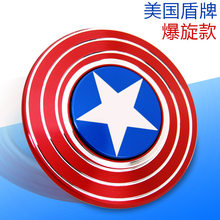Fidget Spinner Marvel Captain America Twee Kanten Legering Spiderman Hand Spinner Volwassen Decompressie Artefact Kinderen Speelgoed(China)