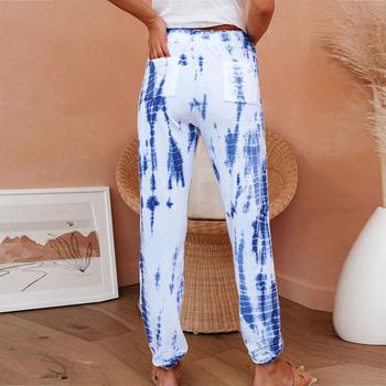 Spodnie dresowe damskie lato 2021 spodnie dresowe Traf Y2k spodnie dresowe damskie spodnie jeansowe Mon Baggy spodnie z wysokim stanem Tie Dye tanie i dobre opinie NoEnName_Null rurki NYLON spandex LOOSE Spodnie do kostek CN (pochodzenie) Na wiosnę jesień HIGH LC77492 Na co dzień