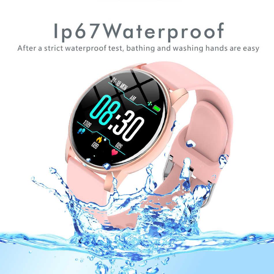 Vrouwen Smart Horloge Real-Time Weerbericht Activiteit Tracker Hartslagmeter Sport Dames Smart Horloge Mannen Voor Android ios