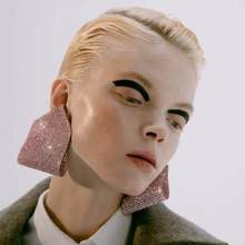 Pauli Manfi Fashion Personality Double Claw Chain Geometric Dangle Earrings Women's Elegant Temperament Jewelry Accessories