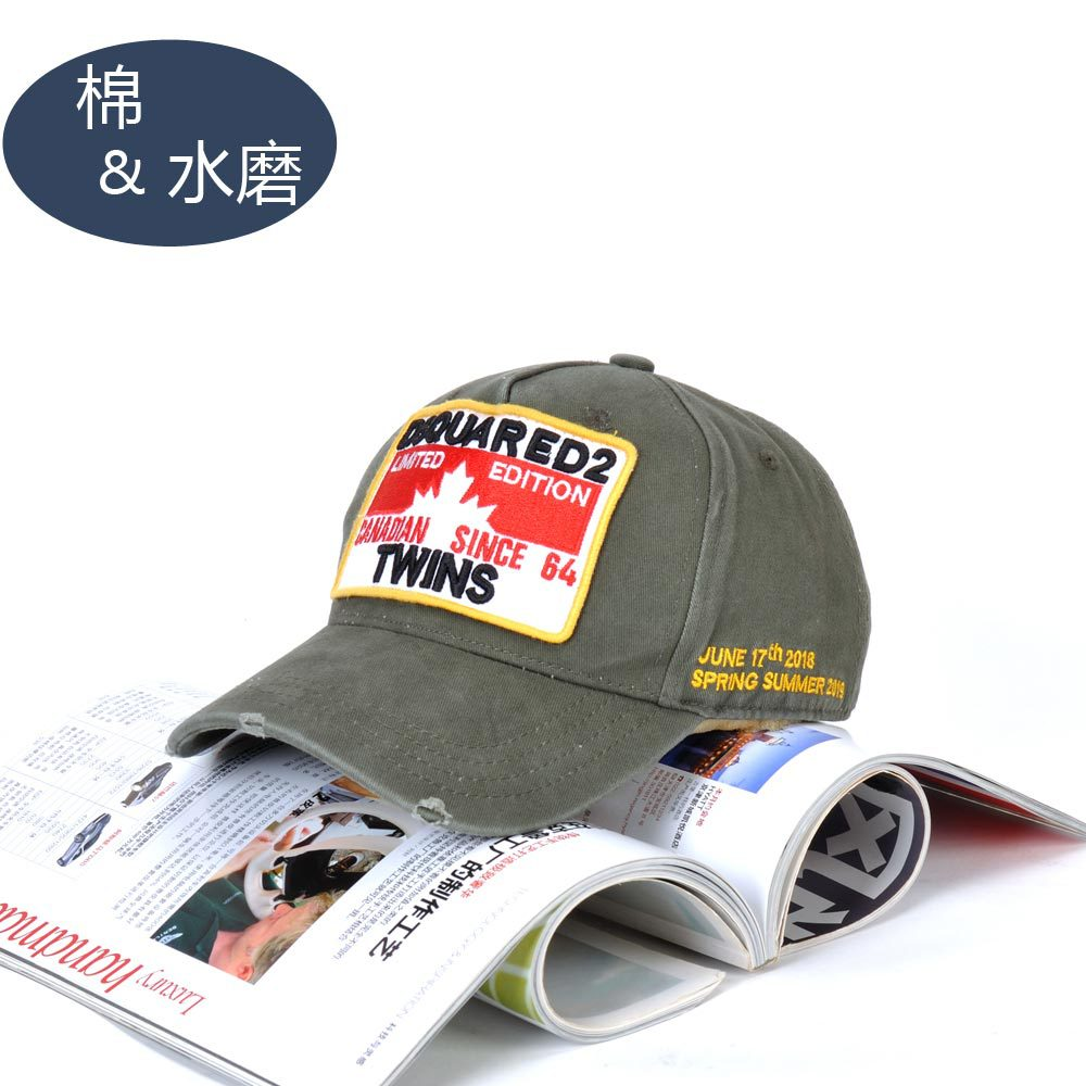 Hat Europe And America Embroidered Baseball Cap D2 Men's Casual Brim Hat Women's Versatile Sun-resistant Topee
