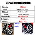 4 шт. 135 мм стайлинга автомобилей колпак ступицы центра колеса значок для крышки 4F0601165 4F0601165N для Audi A3 A4 A5 A6 A7 A8 S4 S6 аксессуары