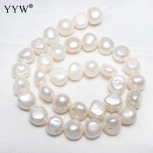 Loose Pearls Bead White 12-13mm Cultured Potato Freshwater Pearl Beads Jewelry Making Pearls Beads Bulk Hole 0.8mm 15 Inch