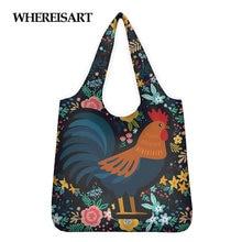 Многоразовые складные сумки для покупок Цветочная сумка цыплят