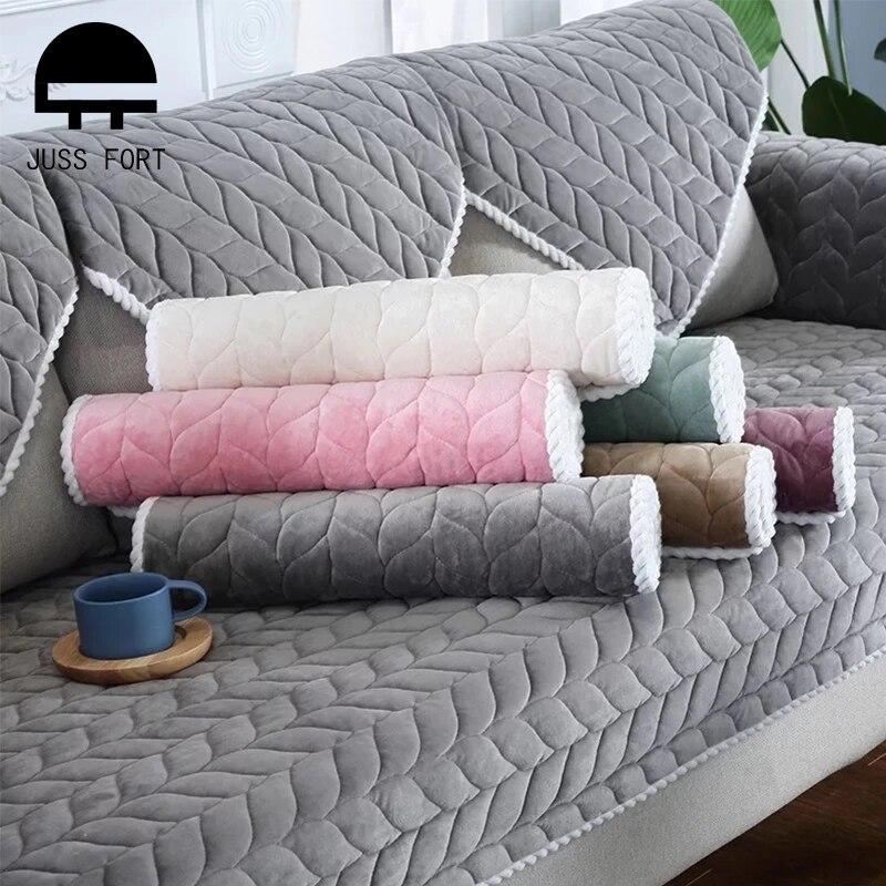 Sofá Capa Protetor para Sala de estar Simples Sólidos Estiramento Engrosse Plush Cadeira Tapete Almofada Do Sofá Tampa do Sofá Sofá Toalha Casa decoração
