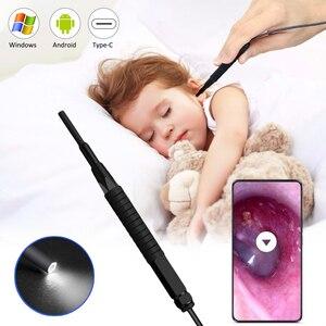 Вкладыши для очистки эндоскопа USB визуальная ухочистка 3,9 мм Мини Камера Android ПК, ушным пинцетом, отоскоп бороскоп инструмент медицинского о...