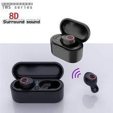New X29 TWS Wireless Bluetooth Headset 8D Surround Stereo In-Ear Sports Mini Earpiece With Charging Case For iPhone11 XR Xiaomi(China)