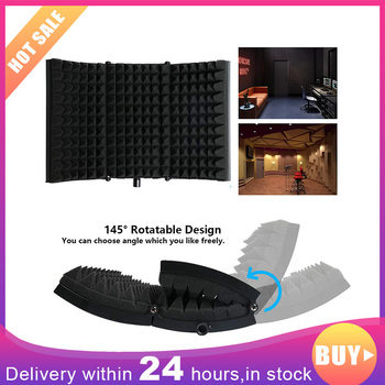 2020 Foldable Microphone Isolation Shield Acoustic Recording Sound Absorber Foam Panel Mic Accssories for Podcast Studio Mic