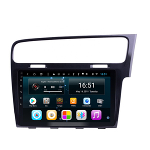 car radio GPS with free map for Right driving volkswagen VW GOLF 7 golf MK7 golf GTR bright black 10.1inch Android 9.0(China)