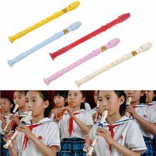 Пластиковый музыкальный инструмент Регистраторы сопрано длинная флейта 8 отверстий