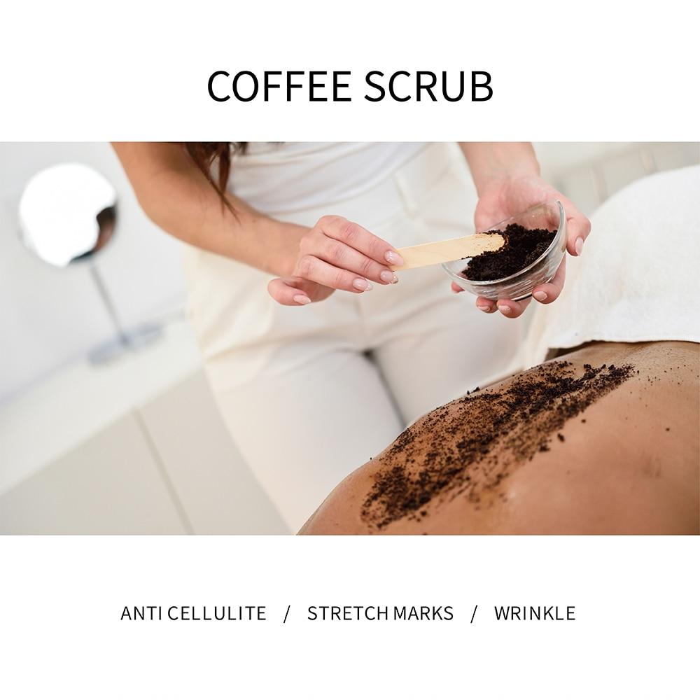 Купить с кэшбэком ISNER MILE Natural Organic Formula Coffee Scrub Facial Exfoliating Whitening Moisturizing Anti Cellulite For Body Care