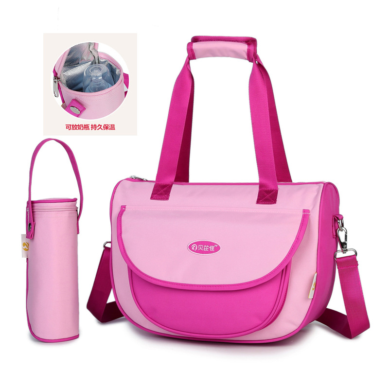 Multi-functional MOTHER'S Bag Hand Shoulder Diaper Bag Can Hang Stroller Fashion Maternal Maternity Package Insulation Feeding B
