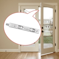 ABKT 2 Pcs Door Flush Bolt   6 Inch Concealed Security Door Lock for French Doors|  -