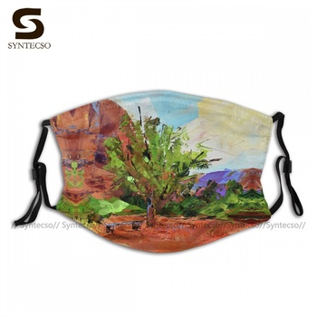 Reuse Unisex Sedona Pathway Face Mouth Mask Fancy Polyester Uniques Bike Facial Mask With Filters