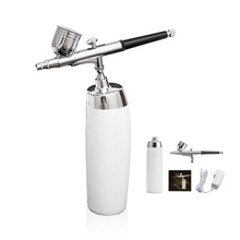 Wireless Airbrush Kit With Rechargeable Compressor Big Capacity Ink Cup Spray Pen For Makeup,Nail art,Paint,Cake making,tattoo body paint spray dual action airbrush compressor kit 2 cup for makeup hobby nail art paint cake decorating machine kit portable