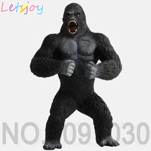 letsjoy 19cm Kingkong King Kong Chimpanzee beast fierce violent Animal models Gorilla high Quality Action Figure Toy for Kids scary gorilla king kong figure mask headgear style assorted