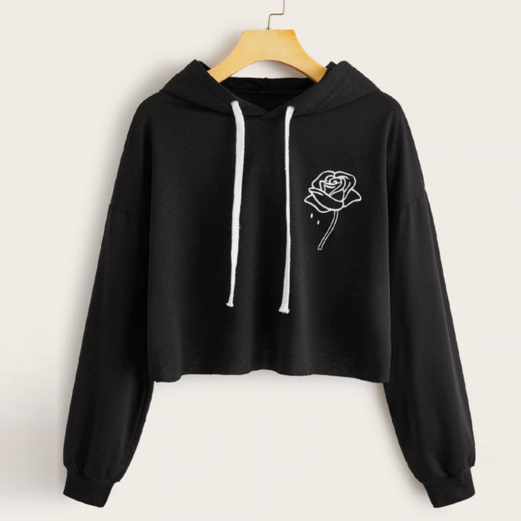 bluza damska christmas clothes hoodies women Casual Long Sleeve  Printed Hooded Drawstring Sweatershirt moletom feminino