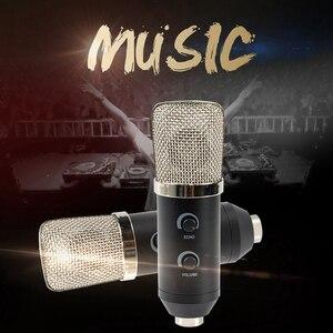 Micrófono de condensador de estudio USB, micrófono profesional de gran diafragma para cantar, para sala de estar, PC, KTV, grabación de reuniones