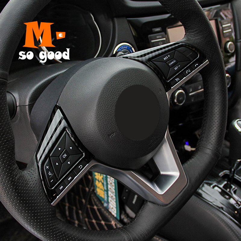Matte Streering Wheel Panel Control Cover Trim For Nissan Qashqai J11 2014-2017