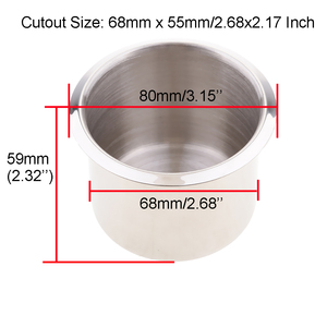Image 2 - 6 Pieces Stainless Steel Boat RV Cup Drink Holder Corrosion Protection 68x55mm