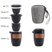 4 стиля черная глиняная посуда Керамика Чай горшок гайвань чашки