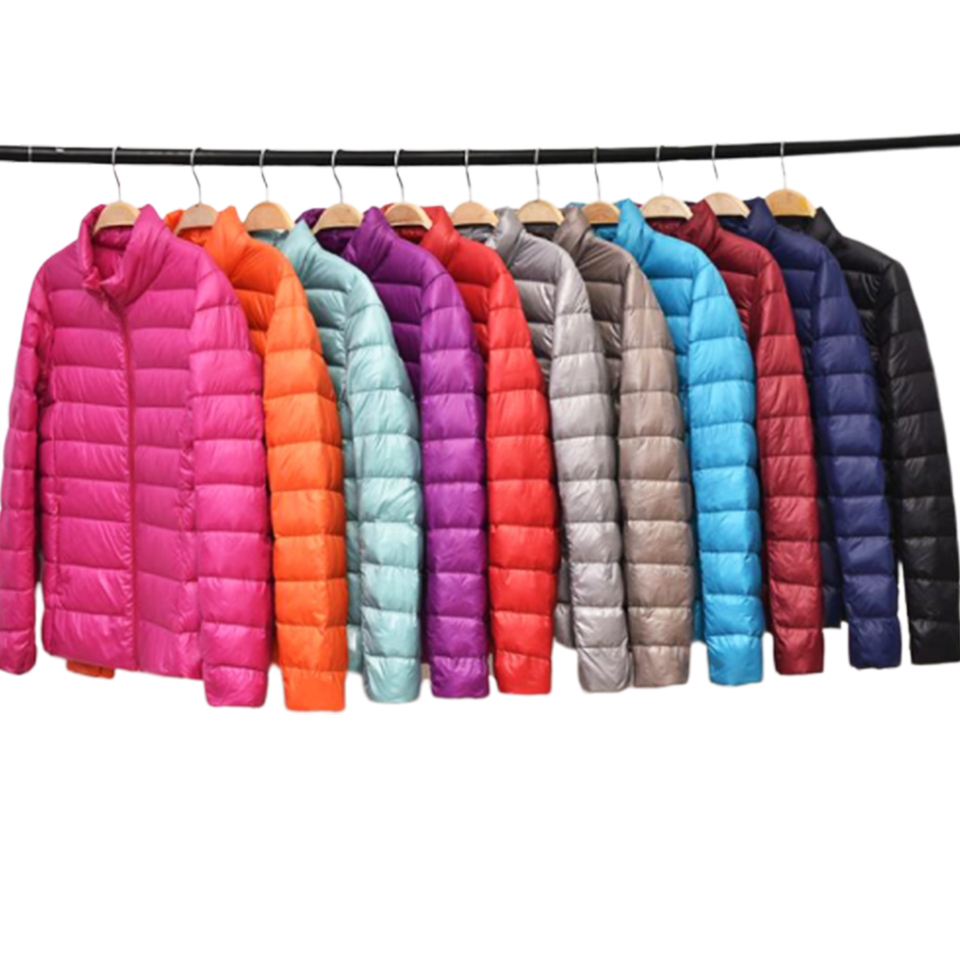 Reversible Down Jacket Women Windproof   Parka   Light Weight Padding Hooded Puffer Jacket Slim Fit Thin   Parka   Duvet Wadding Quilted