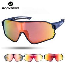 ROCKBROS occhiali da ciclismo MTB Road Bike occhiali da sole polarizzati protezione UV400 occhiali da bicicletta Unisex ultraleggeri attrezzatura sportiva