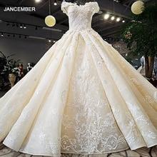 LS32412 như hình lệch vai người yêu bầu phối ren lưng tay làm việc Áo Váy Đầm Vestido de noiva thật hình ảnh