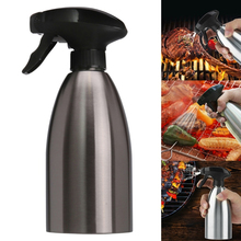 500ml Oil Spray Bottle Oiler Pot Cookware Kitchen 304 Stainless Steel Cooking Tool Can Bar Practical Supply