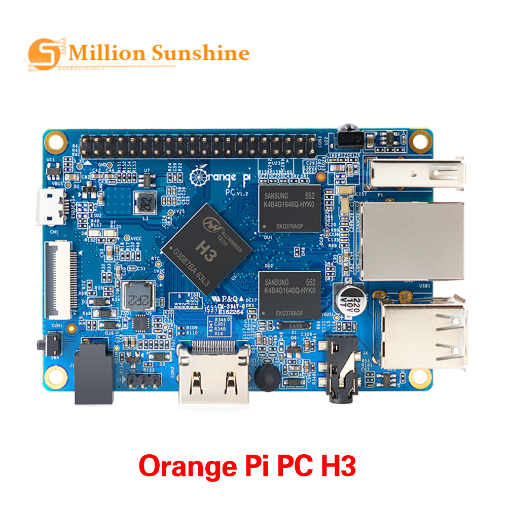 Orange Pi PC H3 Quad-core 1GB Support The Lubuntu Linux And Android Mini PC  OR2