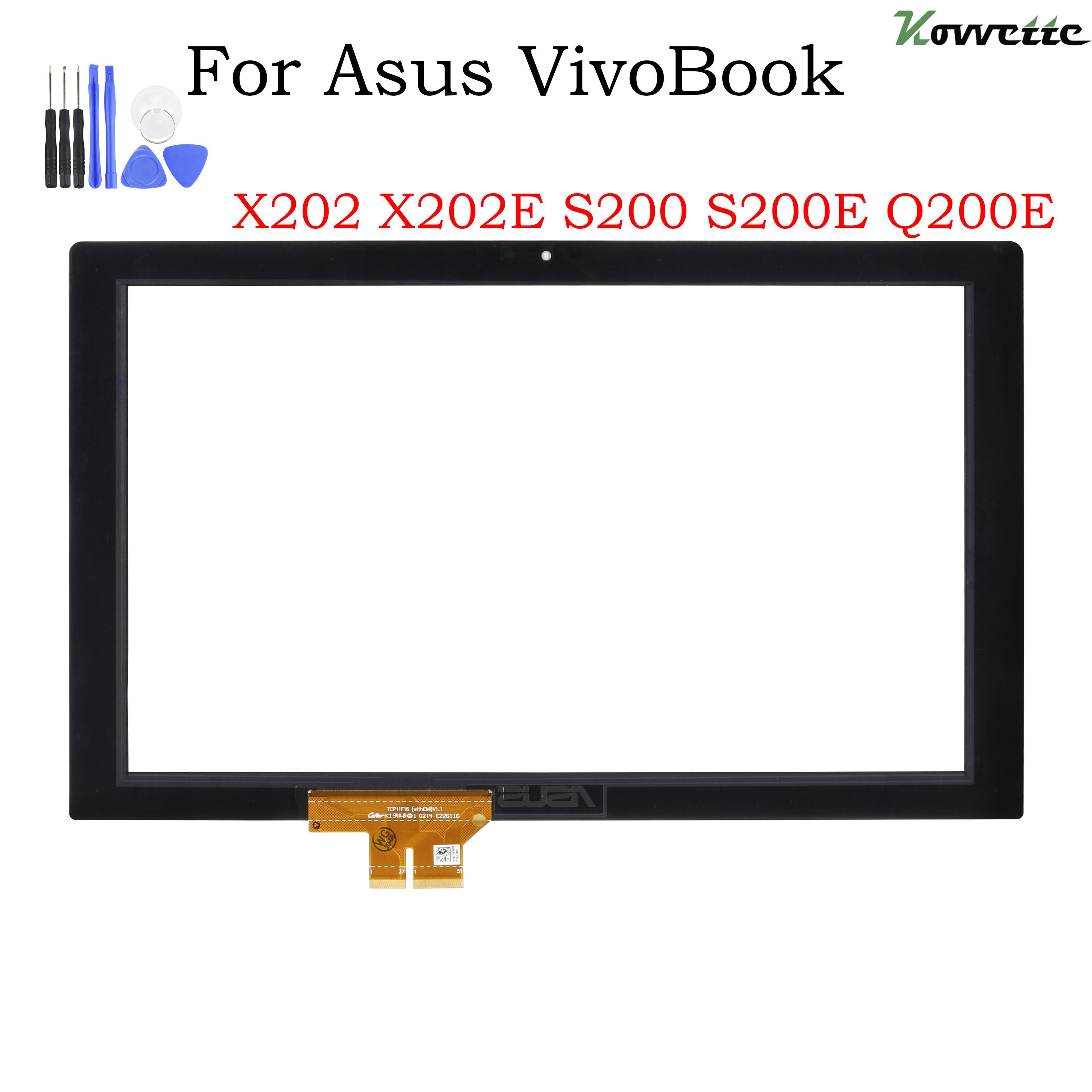 Сенсорный экран дигитайзер для Asus VivoBook X202 X202E S200 S200E Q200 стеклянная панель Замена Бесплатная доставка