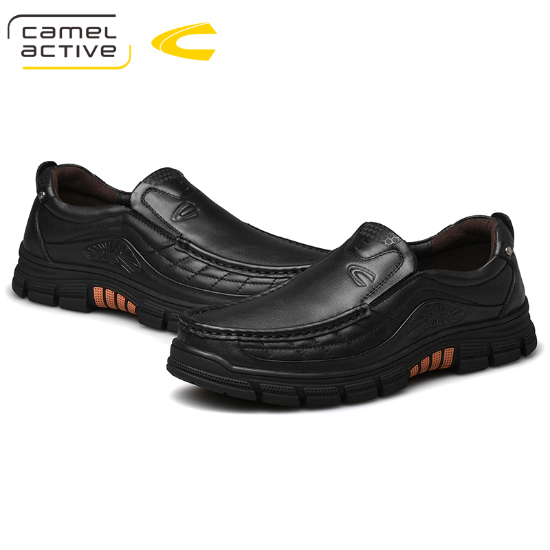Camel Active New Classics Style Men Hiking Shoes Genuine Leather Men Shoes Outdoor Anti-Slip Trekking Shoes Sneakers