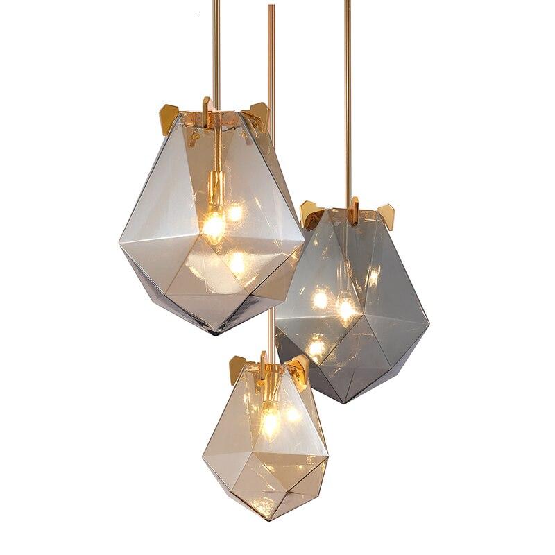 Işıklar ve Aydınlatma'ten Kolye ışıkları'de Modern cam küre kolye ışıkları yemek odası kapalı ev mutfak armatürleri asılı lamba çubuğu restoran dekor armatür parlaklık title=