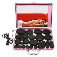 24 PCs/Set of Health Energy Volcanic Hot Stones SPA Essential Oil Volcano Massage Artifact Massage Stone Set Beauty Salon Essent