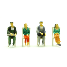 1/25scale all sitting painted model people for train landscape layout kits 20pcs diorama tiny figurres in color