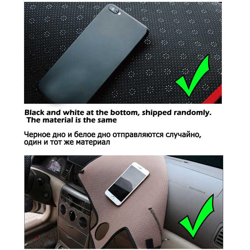 Mobil Dashboard Cover untuk Rusia KIA RIO 3 2012 2013 2014 2015 2016 2017 Dash Mat Dash Mat Silikon Non-slip Sun Shade Dash Board