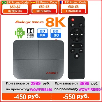 AX95 Android 9 0 Smart TV Box 4G 128G Amlogic S905X3 obsługa Dolby BD MV DB ISO Dual Wifi 4K Google Player Store Youtube Media t tanie i dobre opinie Reyfoon 100 M CN (pochodzenie) Amlogic S905X3-B Quad Core ARM Cortex A55 32 GB eMMC 64 GB eMMC 128 GB eMMC HDMI 2 1 4G DDR3